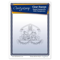 (STA-CH-10534-A5)Claritystamp clear stamp Jayne Nestorenko Carol Singers A5