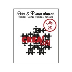 (CLBP25)Crealies Clearstamp Bits&Pieces no. 25 Puzzle pieces