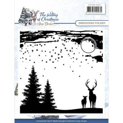 (ADEMB10007)Embossing folder -Amy Design - The feeling of Christmas