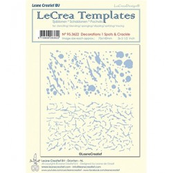 (95.3622)LeCrea Templates Spots & Crackle 1