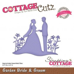 (CCE-469)Scrapping Cottage CottageCutz Garden Bride & Groom