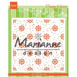 (DF3440)Marianne Design Embossing folder + dies Snow and Ice crystals