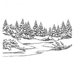 (EFE029)Embossing folder Winter scene