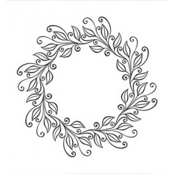 (EFE031)Embossing folder Leaves wreath
