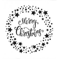(EFE032)Embossing folder Merry Christmas Star wreath