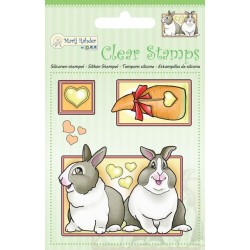 (9.0041)Marij Rahder Clear Stamp Rabbits