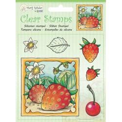(9.0045)Marij Rahder Clear Stamp Strawberries