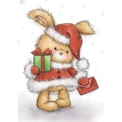 (CL511)Wild Rose Studio`s A7 stamp set Christmas Bunny