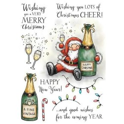 (AS005)Wild Rose Studio`s A5 stamp set Boozy Santa