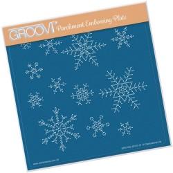 (GRO-GG-40727-12)Groovi Grid SMALL SNOWFLAKES