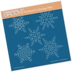 (GRO-GG-40728-12)Groovi Grid LARGE SNOWFLAKES