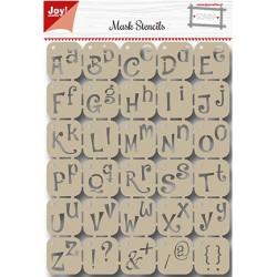 (6002/0842)Scrapbooking Stencil Alphabet