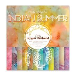 "(ACC-CA-30525-88)DESIGNER PARCHMENT PAPER 8"" X 8"" INDIAN SUMMER"