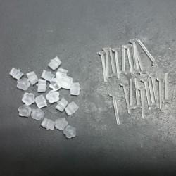 (188AMANDA)Amanda Plastic T-pin and plastic base