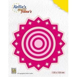 (MFD110)Nellie's Multi Frame Dies Rosette sharp
