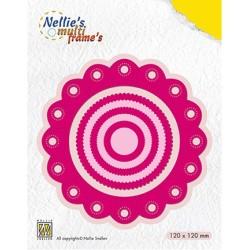 (MFD111)Nellie's Multi Frame Dies Rosette round