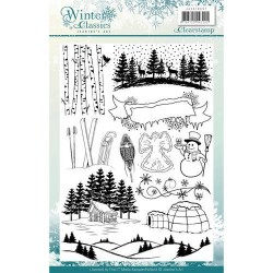 (JACS10007)Clearstamp - Jeanines Art - Winter Classics
