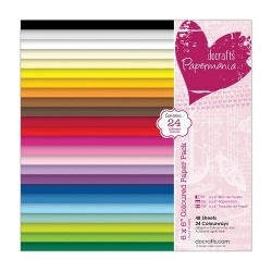 (PMA 160502)Coloured Paper Pack (48pk) 15 X 15 cm