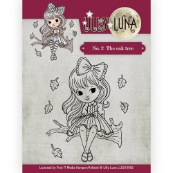 (LLCS10001)Clearstamp -Lilly Luna - 1 Walking in the Rain
