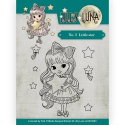 (LLCS10003)Clearstamp -Lilly Luna - 3 Little Star