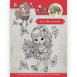 (LLCS10004)Clearstamp -Lilly Luna - 4 Flowers to Love