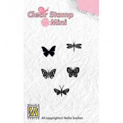 (MAFS001)Nellie's Choice Clear stamps Butterflies