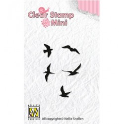 (MAFS002)Nellie's Choice Clear stamps Birds