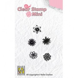 (MAFS003)Nellie's Choice Clear stamps Flowers