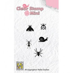 (MAFS004)Nellie's Choice Clear stamps Critters