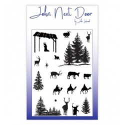 (JND0012)John Next Door Clear Stamp A6 Festive Silhouettes