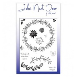 (JND0011)John Next Door Clear Stamp A6 Build a Wreath