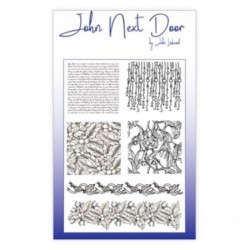 (JND0010)John Next Door Clear Stamp A6 Christmas Textures