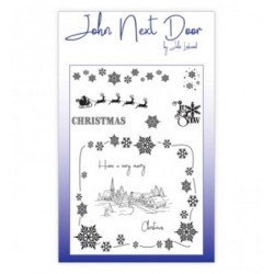 (JND0009)John Next Door Clear Stamp A6 Christmas Scene