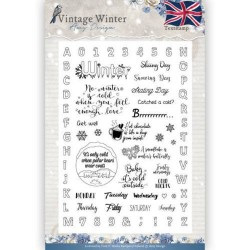 (ADCS10023)Clear Stamp - Amy Design - Vintage Winter - English