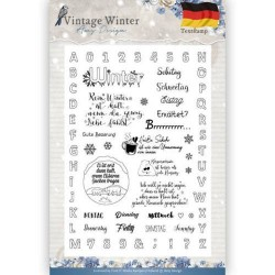 (ADCS10024)Clear Stamp - Amy Design - Vintage Winter - Deutsch