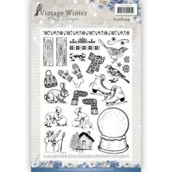 (ADCS10021)Clear Stamp - Amy Design - Vintage Winter