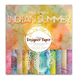 "(ACC-CA-30524-88)DESIGNER CRAFT PAPER 8"" X 8"" INDIAN SUMMER"