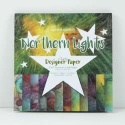 "(ACC-CA-30443-88)GROOVI DESIGNER CRAFT PAPER 8"" X 8"" NORTHERN LIGHTS - NATURAL WONDERS"