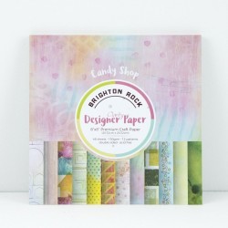 "(ACC-CA-30440-88)GROOVI DESIGNER CRAFT PAPER 8"" X 8"" BRIGHTON ROCK - CANDY SHOP COLLECTION"