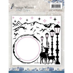 ADEMB10008)Embossingfolder - Amy Design - Vintage Winter