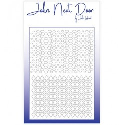 (JNDM0002)John Next Door Stencil Duo Mask Argyle
