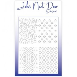(JNDM0003)John Next Door Stencil Quatro Stars