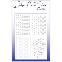 (JNDM0004)John Next Door Stencil Quatro Drops