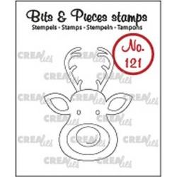 (CLBP121)Crealies Clearstamp Bits&Pieces no. 121 Reindeer
