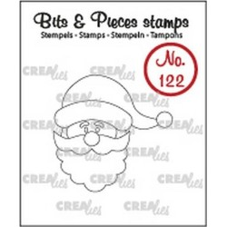 (CLBP122)Crealies Clearstamp Bits&Pieces no. 122 santa claus