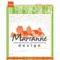 (DF3442)Marianne Design Embossing folder Wintervillage