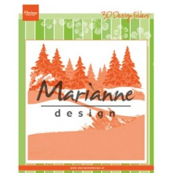 (DF3441)Marianne Design Embossing folder Winterwood