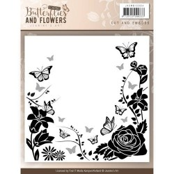 (JAEMB10004)Embossing Folder - Jeaninnes Art - Classic Butterflies and Flowers