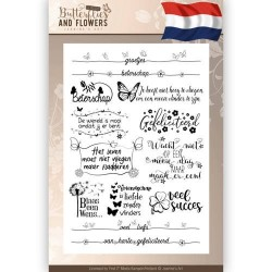 (JACS10009)Clearstamps Tekst - Jeanines Art - Classic Butterflies and Flowers - Nederlands