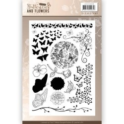 (JACS10008)Clearstamps - Jeanines Art - Classic Butterflies and Flowers